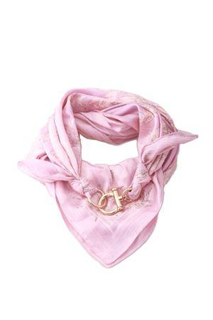 Lungo foulard rosa chiaro con gancio oro Grakko Fashion | -709280361 | GRLONG ROSAROSA
