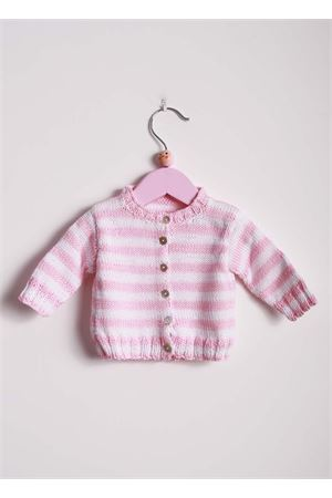 Cardigan in poro cotone per neonato Il Filo di Arianna | 39 | CAR COT 07BNC - ROSA