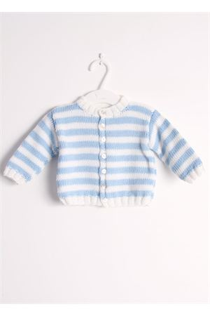Wool cardigan sweater for new born Il Filo di Arianna | 39 | CAR LAN 03 HIMBIANCO CELESTE