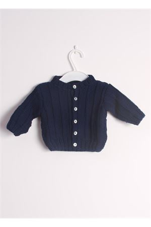 Wool cardigan sweater for new born Il Filo di Arianna | 39 | CAR LAN 05BLU