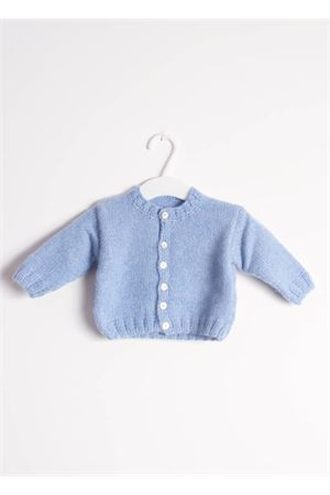 Pure cashmere cardigan sweater for new born 3 - 6 MONTHS Il Filo di Arianna | 39 | CAR PRE 01CELESTE