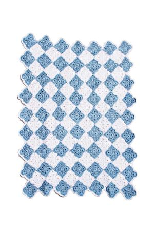 Cotton blanket for cradle Il Filo di Arianna | 20000039 | COP01BNC-CEL