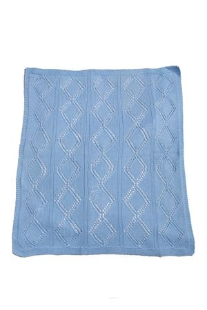 Wool blanket for cradle Il Filo di Arianna | 20000039 | COP05CELESTE