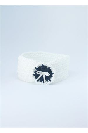 Fascia elasticizzata fatta a mano bianca e blu Il Filo di Arianna | 20000041 | FAS COT 02BIANCO/BLU