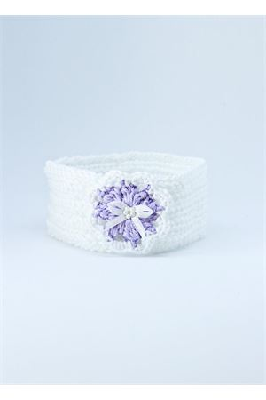 Fascia in cotone elasticizzato bianca e lilla Il Filo di Arianna | 20000041 | FAS COT 04BIANCO/LILLA