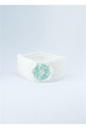 Fascia elasticizzata in cotone bianco e verde tiffany Il Filo di Arianna | 20000041 | FAS COT 06ACQUA/ACQUA