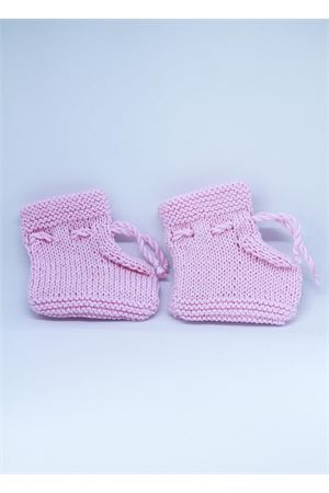 New born cotton pink shoes Il Filo di Arianna | 12 | SCAR COT 01ROSA