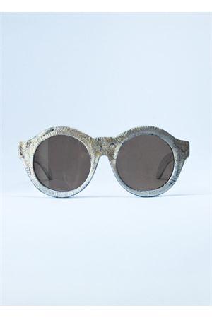 Occhiali da sole con grande montatura argento Kuboraum | 53 | MASKEAZARGENTO