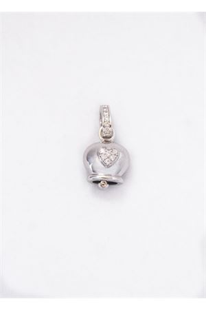 Lucky Capri Bell charm with zircons hearth Pierino Jewels | 5032249 | 3060/CUORECUORE