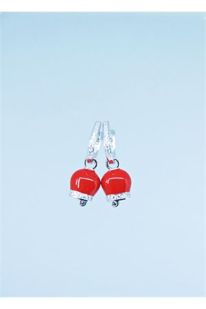 Capri bell red earrings Pierino Jewels | 48 | 3064ROSSO