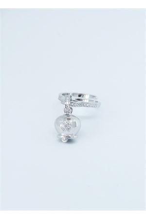 Anello in argento regolabile con ciondolo Campanella di Capri Pierino Jewels | 5032250 | ANELLO QUADRIFOGLIOQUADRIFOGLIO