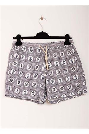 Grey man swimsuit with sea symbols pattern Aram V Capri | 85 | MAIOLICA 20GREY