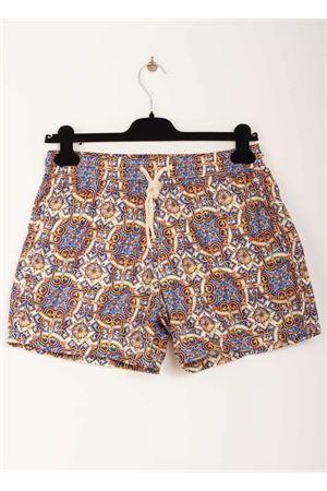Capri majolica pattern man swimsuit Aram V Capri | 85 | MAIOLICA 586019339BLU