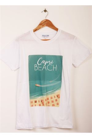 Uisex cotton t-shirt with Capri Beach print Aram V Capri | 8 | OD01RH18410VERDE