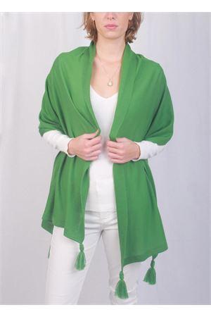 Stola caprese verde con pon pon Art Tricot | 61 | STOLA CAPRESEVERDE PRATO