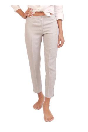 Capri pants in pure grey linen Colori Di Capri | 9 | CAPRI DONNAGRIGIO