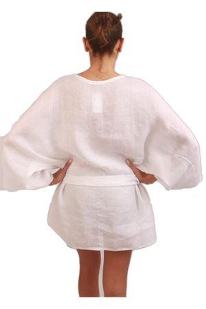 White tunic 100% linen Colori Di Capri | 5032233 | CASACCA BICOLOREBIANCO