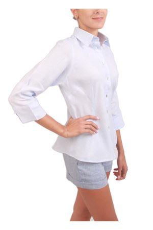 Linen shirt with asymmetrical cut Colori Di Capri | 6 | SBIECOAZZURRO