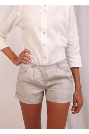 Grey linen short for woman Colori Di Capri | 9 | SHORT DONNAGRIGIO
