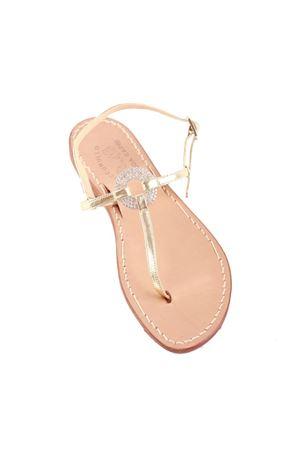 Platinum Capri jewel sandals Cuccurullo | 5032256 | CRYSTALRINGPLATINO