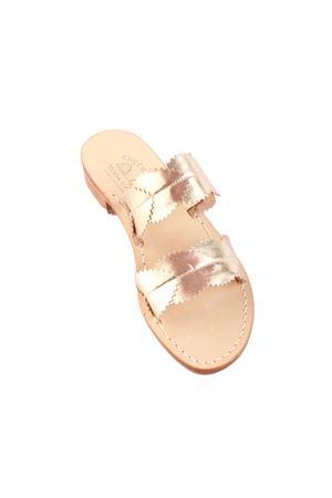 Capri sandals with heel decorated with leaves Cuccurullo | 5032256 | FOGLIE CAPRI2PLATINO