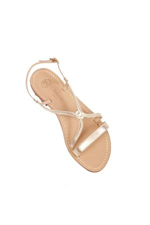 Platinum Capri sandals not flip flops model Da Costanzo | 5032256 | 2606ORO