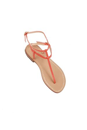 Orange flip flop capri sandals Da Costanzo | 5032256 | 2609ARANCIONE