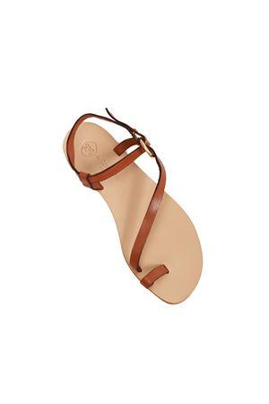 Sandali capresi color cuoio Da Costanzo | 5032256 | 2669/BRCUOIO