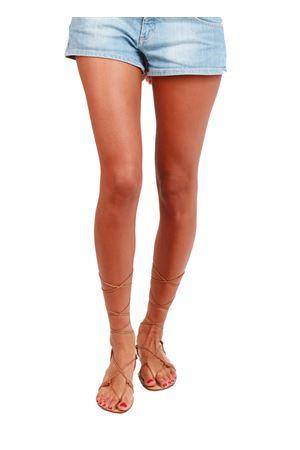 Sandali capresi modello schiava color cuoio Da Costanzo | 5032256 | 2671LCUOIO