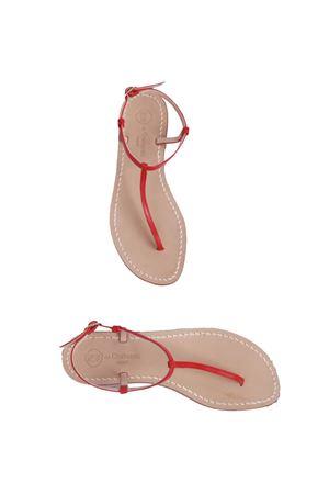 Sandalo Capri infradito in pelle rossa Da Costanzo | 5032256 | S191818ROSSO