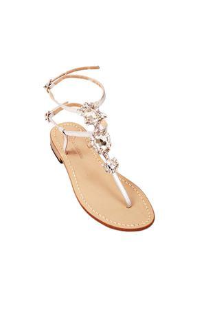 Bridal white crystals Capri sandals Da Costanzo | 5032256 | S3690BIANCO