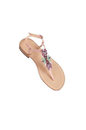 Da Costanzo Capri Pink jewel flat sandals Da Costanzo | 5032256 | S3973ROSA