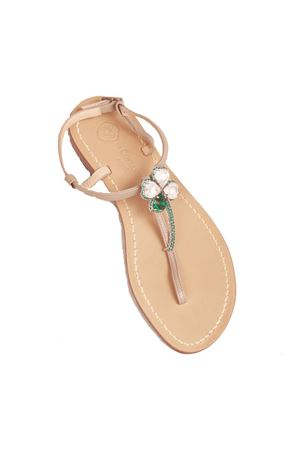 Jewel quatrefoil capri sandals Da Costanzo | 5032256 | S3974GRIGIO
