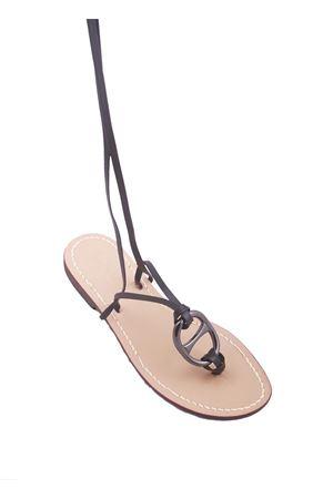 Sandali capresi alla schiava neri con fibia in metallo Da Costanzo | 5032256 | SCHIAVA OVALONENERO