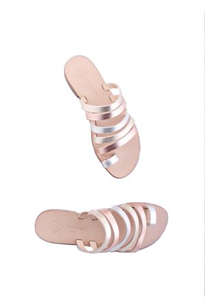 Handmade Capri leather sandals Da Costanzo | 5032256 | TV2621PLATINO