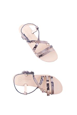 Handmade Capri leather sandals Da Costanzo | 5032256 | TV2668BEIGE