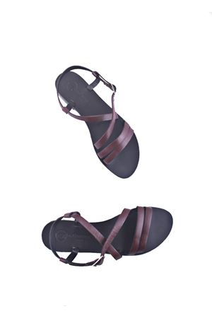 Handmade Capri leather sandals Da Costanzo | 5032256 | TV2668BORDEAU