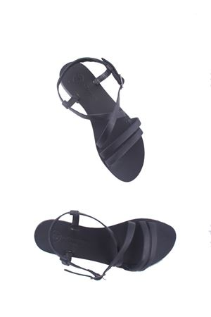 Handmade Capri leather sandals Da Costanzo | 5032256 | TV2668NERO