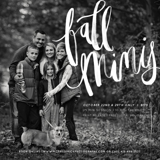 Fall Family Mini Session- Oct. 22nd