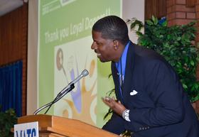 Delvyn Crawford of Gutter Enterprises speaking at a past event (Photo by Gutter Enterprises)