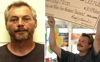 Douglas P. Miron won a $31.4 million Powerball jackpot in 2009. Now he faces felony charges. (Photo by