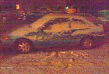 Heavy snow flurries made it into the Wausaukee area Tuesday night (Credit: Tina Duke)