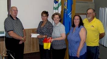 A recent donation presentation to the Crivitz Area Food Pantry