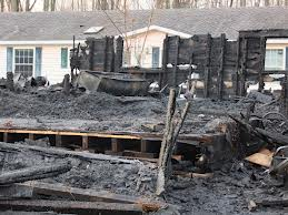 Viz's Kelly Lake Bar in Oconto County was destroyed by fire early Oct. 24, 2012 (Photo by Kelly Lake Community Web Site)