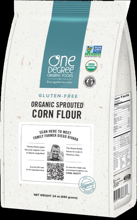 Organic Sprouted Corn Flour – One Degree Organics