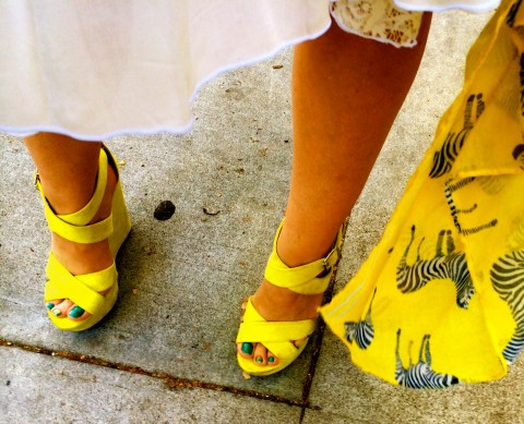 Yellow platforms by Katie Lindsay