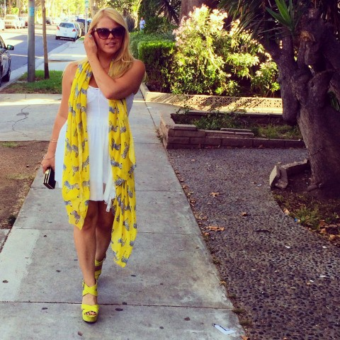 Always Wear Heels Instagram Look of the Day - Summertime Happiness by Katie Lindsay