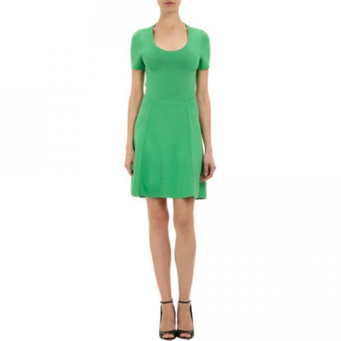 M.PATMOS Doubleface Techno Jersey Scoop-neck Dress