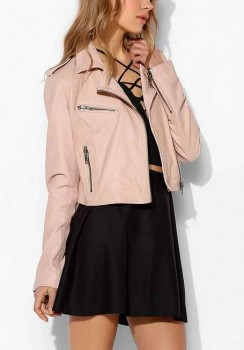 Silence + Noise - Pinky Cropped Leather Moto Jacket (worn by Alison DiLaurentis on Pretty Little Liars)