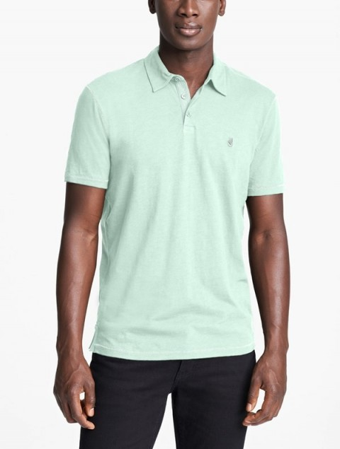 John Varvatos 'Peace' Slub Cotton Polo